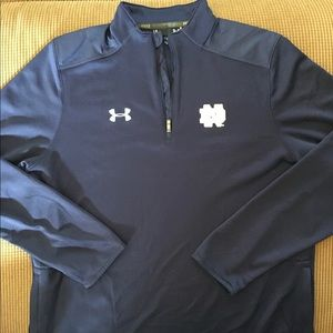 Notre Dame 1/4 zip Pull over size L under armor